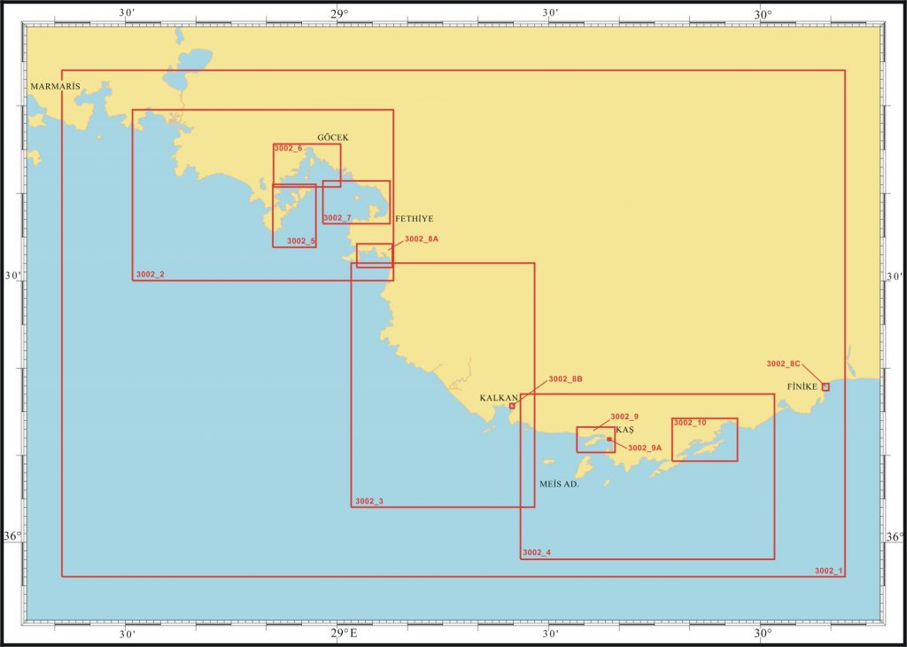 Akdeniz - Fethiye Körfezi - Finike yat haritası