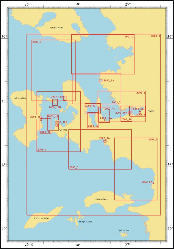 Ege Denizi İzmir Çandarlı Körfezi Yat Haritası